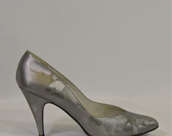 Vintage Shoes by Stuart Weitzman for F. Pinet Silver 1980s