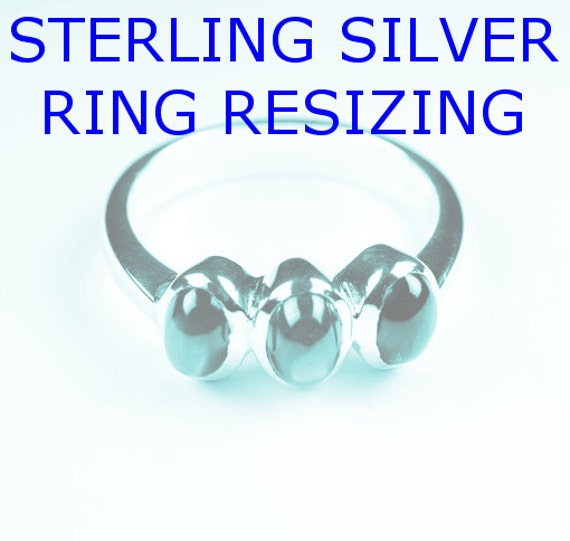 sterling silver ring resizing service for one ring