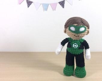 Green Lantern Amigurumi Crochet Plush Doll