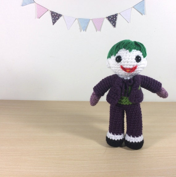 Joker Amigurumi Crochet Plush Doll by 53Stitches on Etsy