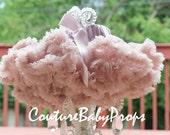 Baby Girls tutu, baby pettiskirt, ruffled baby tutu, Vintage Pink pettiskirt, dusty rose, pink tutu, baby dress, petticoat, photo props