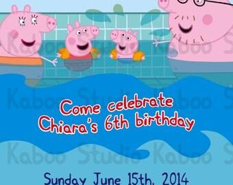 Printable Muddy Peppa Pig And Friends Invitation By Kaboostudio