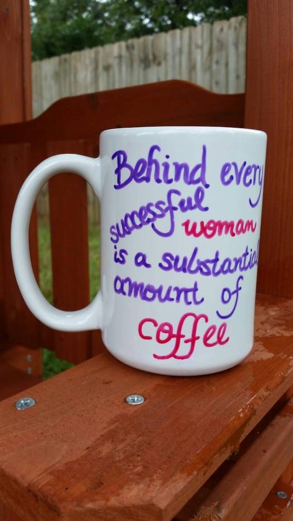 Sale Womens Coffee Mug Large Coffee Mug By Justabrushandpaint
