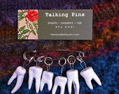Sweet Tooth Stitch Markers handmade porcelain snag-free knitting accessory