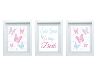 Best Bathroom Decor butterfly bathroom : Butterfly bathroom | Etsy