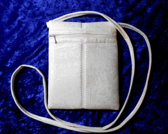 Essential Crossbody bag, special occasions, white fairy frost, long shoulder bag, handmade small pocketbook, purse, messenger, wedding, prom