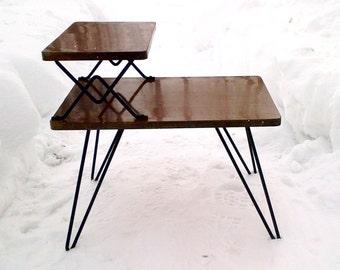 metal hairpin leg etsy. Black Bedroom Furniture Sets. Home Design Ideas