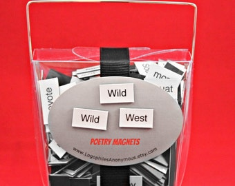 Wild West/Cowboy/Western Themed Poetry Magnet Set - Refrigerator Poetry Word Magnets - Free Gift Wrap