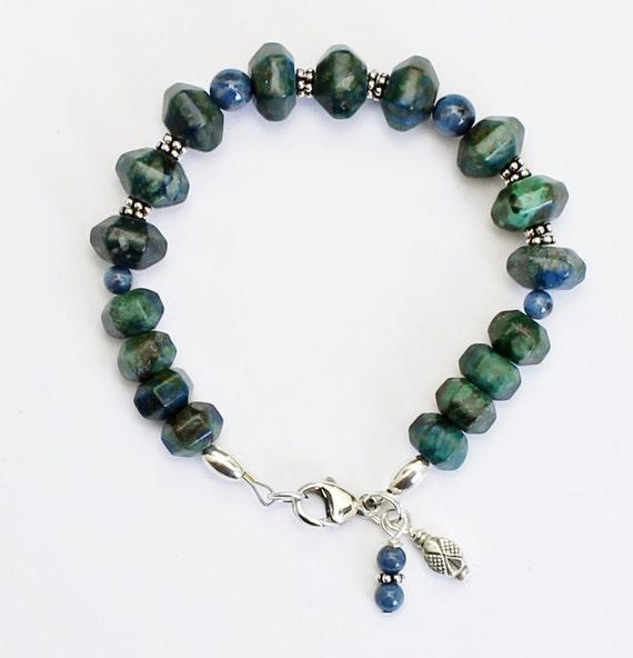 Azurite and Denim Lapis Bracelet