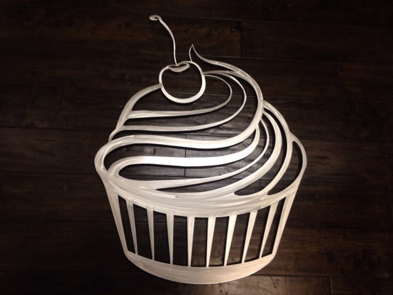 Items Similar To Cupcake Metal Wall Art Kitchen Wall Decor Kitchen Art