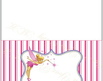 Food tent card , Buffet Labels- tent card- tent labels- Tinkerbell for party