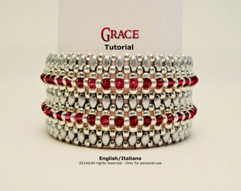 Tutorial Grace Bracelet - beading pattern