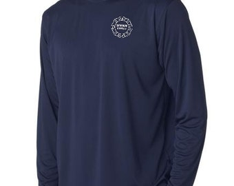 SCFD Long Sleeve Dri-fit 100% polyester tshirt  - Navy or White