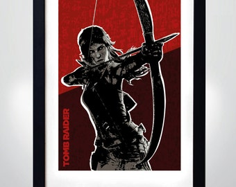Tomb Raider, Wall Art Print Game Poster (selectable size)