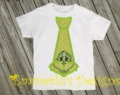 Mr. Grinch Christmas Tie Shirt/Bodysuit/Romper
