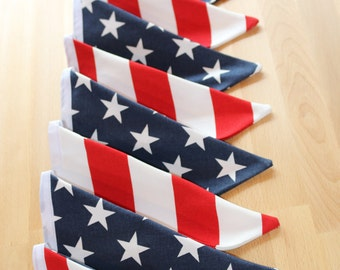 4th of July Stars and Stripes Fabric Bunting