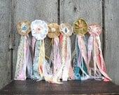 6 Woodland Wedding Flower Wands, Boho Hippie or Fairy Princess Party, Flower Girl Bouquet Alternative