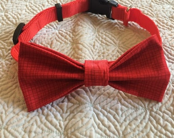 The Red Rocco bow tie collar