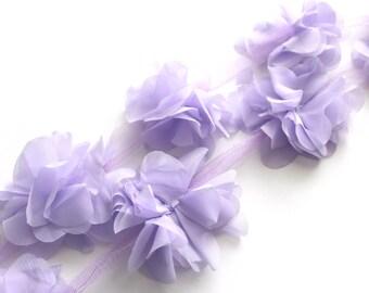 1/2 YD Chiffon Petal Flower Trim--Lavender