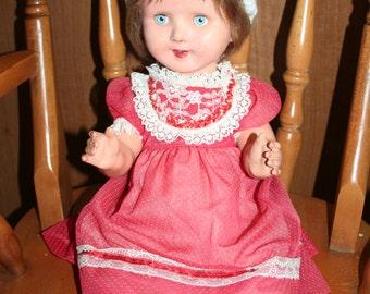 Large Vintage Composition Doll.