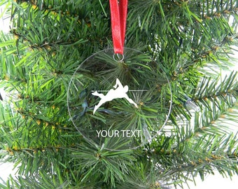 Personalized Custom Swimmer, Swimming Clear Acrylic Christmas Tree Ornament