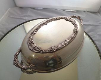 Vintage Silverplate Casserole or Serving Dish Ornate