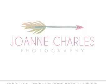 Pre Made  Watermark Business Logo - Watercolor, Arrow, Drawn, Artistic - Shop Logo - Watercolour - Branding - Brand, Photography