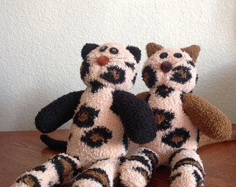 Handcrafted Plush Sock Cats