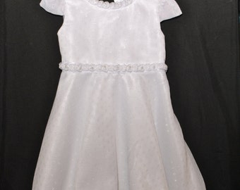 Pristine White Flower Girl Dress Size 4T