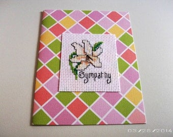 Sympathy Cross-Stitch Greeting Card