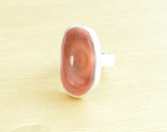Mauve Pink Imperial Jasper Ring // Jasper Jewelry // Sterling Silver // Village Silversmith