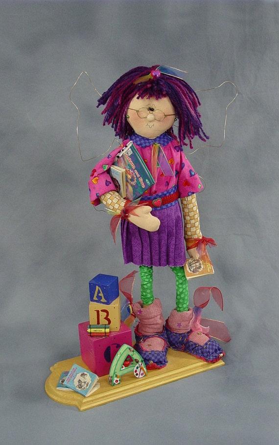 "Pattern: Ashley - 22"" School Girl Fairy"