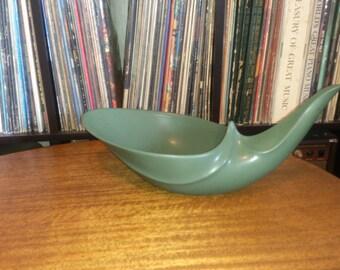 Unique vintage sage green ceramic bowl/centerpiece