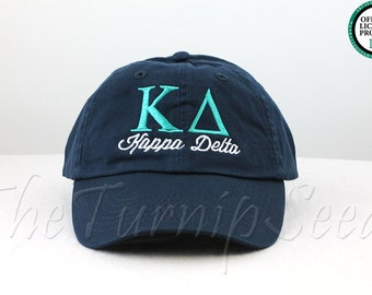 kappa delta sorority baseball cap custom color hat and embroidery