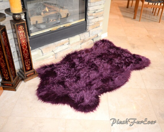 Faux Lavender Sheepskin Rug by by PlushFurEver