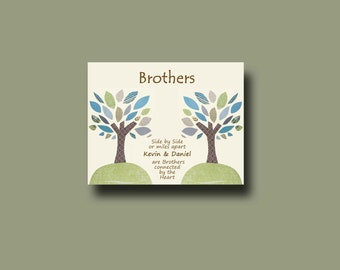 Wedding Present To Brother : Brother Gift PrintPersonalized Gift for BrotherWedding Gift for ...