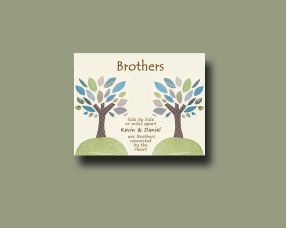 Brother Gift Print - Personalized Gift for Brother - Wedding Gift for ...