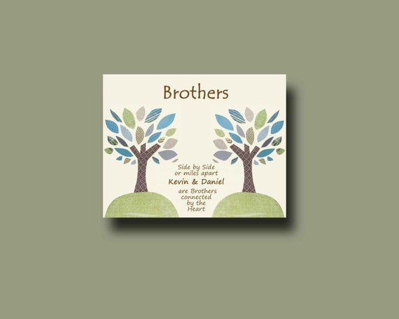 Special Wedding Gift For Brother : Brother Gift PrintPersonalized Gift for BrotherWedding Gift for ...