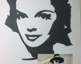 Judy Garland Print from Original Charcoal Drawing