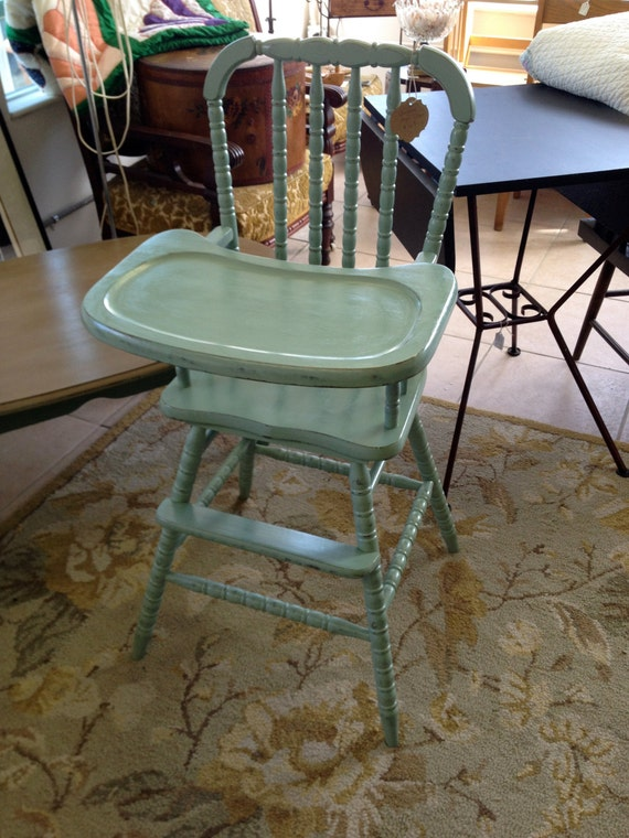 Vintage jenny lind wooden high chair by sheasshabby on etsy