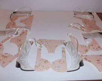 Bachelorette Cowgirl / Country girl  boot and lingerie banner 12 ft