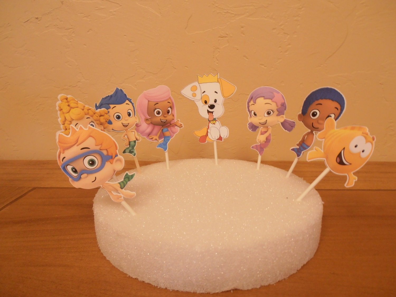 bubble guppies cake toppers guppies cupcake toppers sided 2100