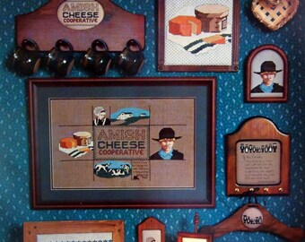 Amish Seen By Diane Selby And Hickory Hollow Vintage Cross Stitch Pattern Leaflet 1985