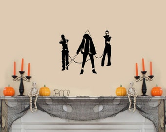 "The Walking Dead (with Michonne and her pets) Wall Decal-(13"" X 11"")"