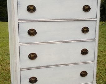 SOLD EXAMPLE.....Chalk painted dresser/chest of drawers/Annie Sloan