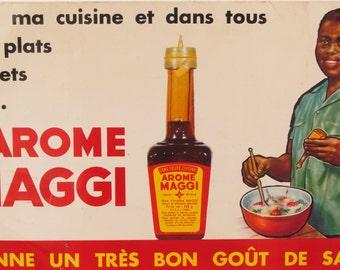 Original Vintage L'Arome Maggi Metal Sign