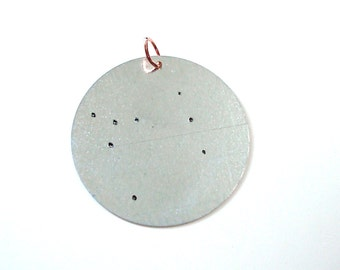 Canis Major - the Great Dog | Handstamped Constellation Charm on Necklace