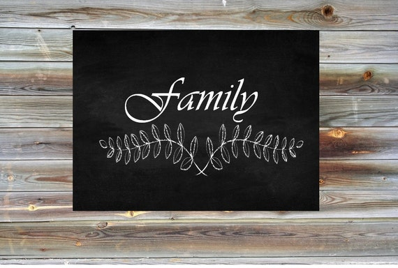 Family Chalkboard Printable