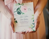 Floral Painted Invitation