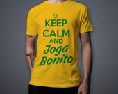 World Cup Brazil 2014 Keep Calm and Joga Bonito - Brazil Tshirt all sizes